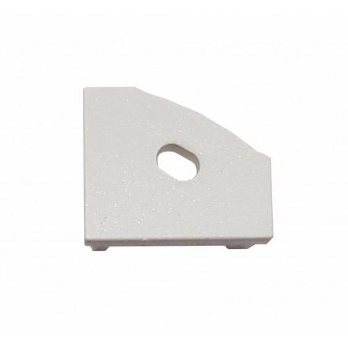 Krytka koncová plastová PRAVÁ pro profil MiniLUX 30/60°, bílá