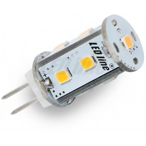 LED žárovka 1,8W 9xSMD2835 G4 150lm corn TEPLÁ BÍLÁ 12V DC