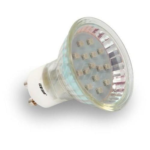 LED žárovka 1,5W 15xSMD3528 GU10 140lm STUDENÁ