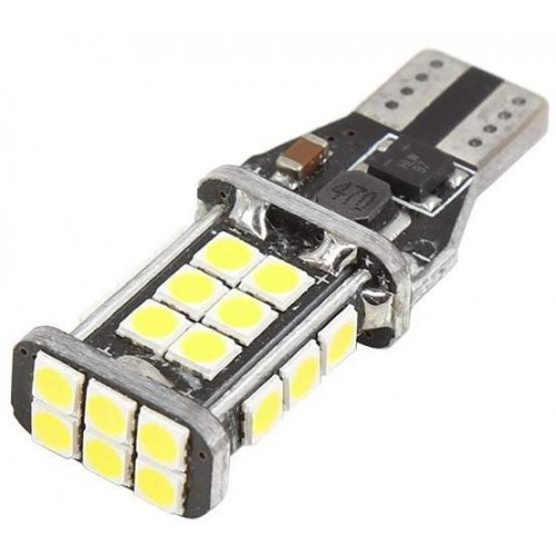 LED auto žárovka W5W T10 24 SMD CREE 3030 CAN BUS STUDENÁ BÍLÁ