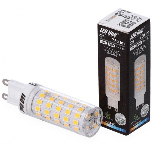 LED žárovka 8W 64xSMD2835 G9 750lm NEUTRÁLNÍ BÍLÁ