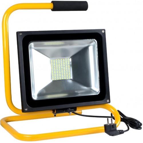 LED reflektor s držákem 50W SMD2835 3750lm SLIM NEUTRÁLNÍ