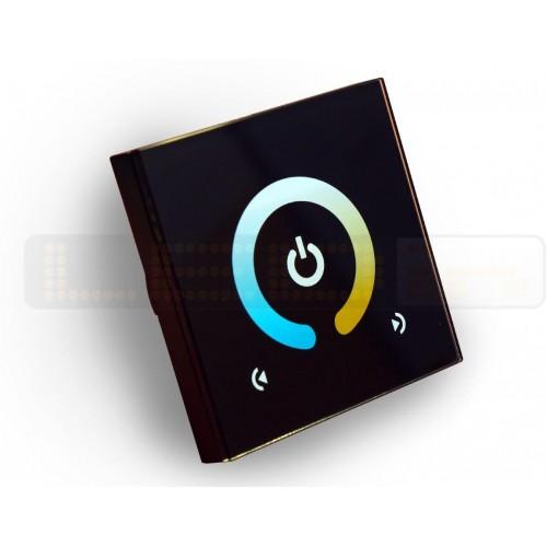 Nástěnný dotykový stmívač BI-COLOR pro CW/WW LED pásky, 6A 96W
