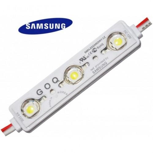 LED Modul 3xSMD 2835 SAMSUNG 1,2W 120lm 12V  IP68 STUDENÁ BÍLÁ