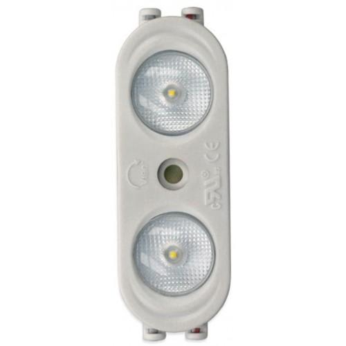 LED Modul OPTO 2xSMD 2835 2W 190lm 12V 170° STUDENÁ BÍLÁ