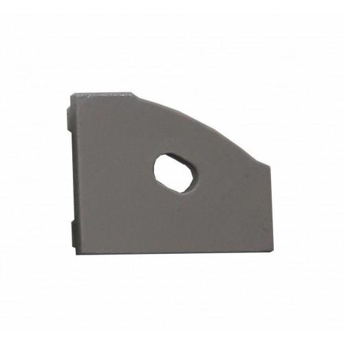 Krytka koncová pro profil MiniLUX 30/60°, PRAVÁ,  šedá