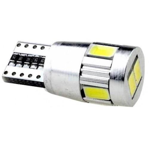 LED auto žárovka LED W5W T10 6 SMD 5630