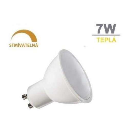LED žárovka 7W 8xSMD2835 GU10 500lm teplá bílá STMÍVATELNÁ