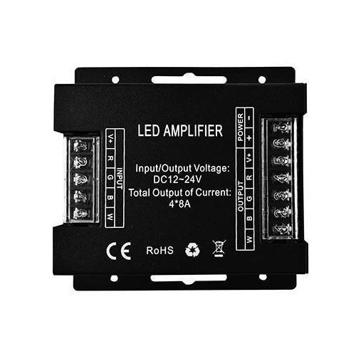 Amplifier RGBW černý 32A 384W 12V 12/24V DC černý