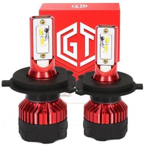 LED auto žárovka H4 K5 GT COB 2x40W s aktivním chladičem 2x8000lm