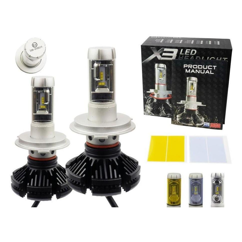 LED auto žárovka H4 X3 Philips LED ZES 50W s chladičem 12000lm