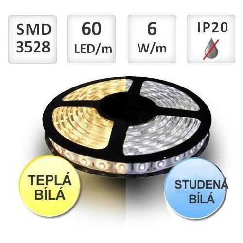 LED pásek 60ks/m SMD2835 6W/m  1m, BI-COLOR