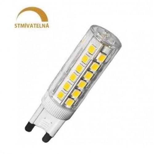 LED žárovka 6W 72xSMD2835 G9 550lm CCD Teplá STMÍVATELNÁ