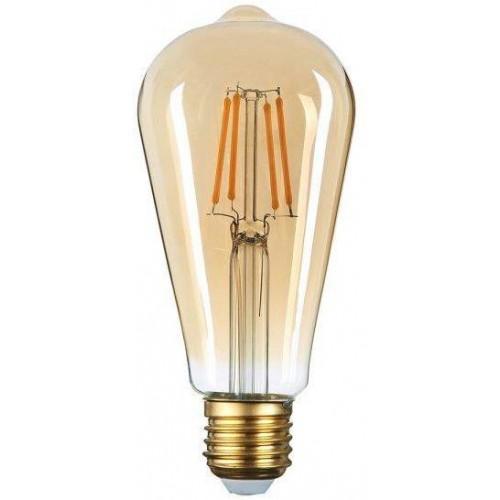 LED žárovka 8W 4xCOB Filament E27 700lm CCD TEPLÁ BÍLÁ, STMÍVATELNÁ