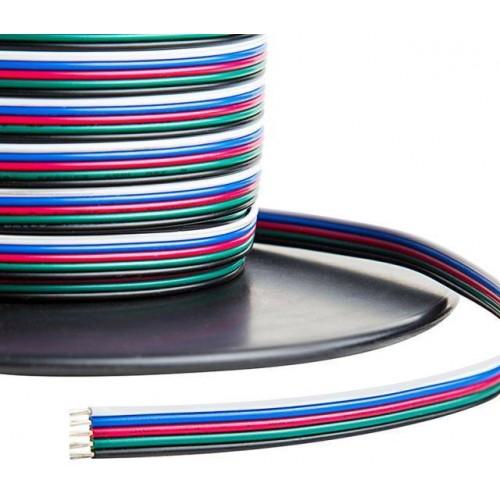 Kabel pro LED pásek RGBW plochá pětilinka 5x0,35mm