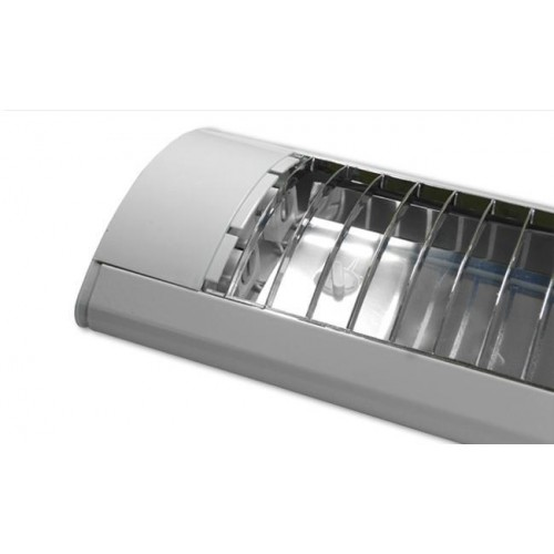 KOMPLET Přisazené svítidlo rastr +2 LED trubice T8 36W 120cm NEUTRÁLNÍ