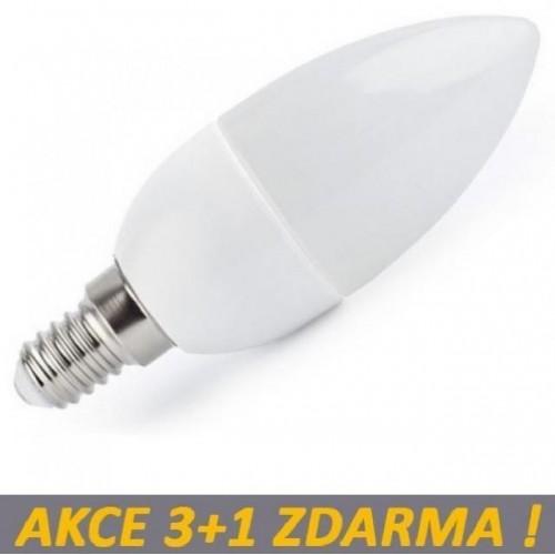 LED žárovka 4W 360lm E14 STUDENÁ, 3+1 ZDARMA