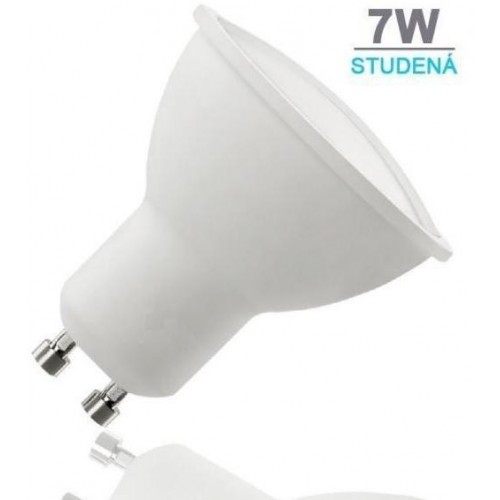 LED žárovka 7W 12xSMD2835 GU10 500lm STUDENÁ BÍLÁ