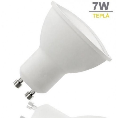 LED žárovka 7W 12xSMD2835 GU10 500lm TEPLÁ BÍLÁ