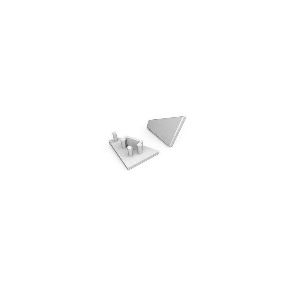 Krytka koncová LEVÁ pro profil CORNER10, stříbrná