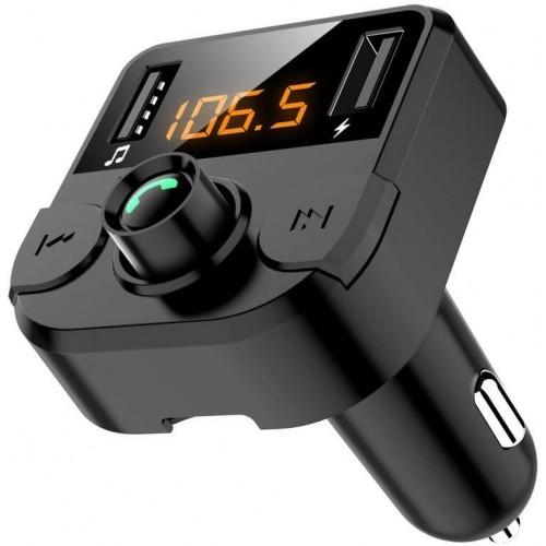 Multifunkční FM transmiter do auta 3v1, Bluetooth, Hands free, 2 USB sloty s nabíječkou