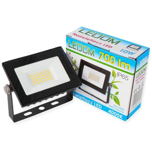LED reflektor LEDOM 10W SMD2835 700lm SLIM NEUTRÁLNÍ