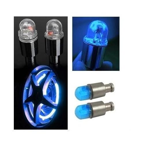 AG190B LED svítící krytky ventilku 2ks, modré