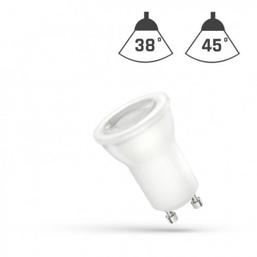 LED MR11 GU10 230V 4W SMD 45ST Studená bíllá s čočkou SPECTRUM
