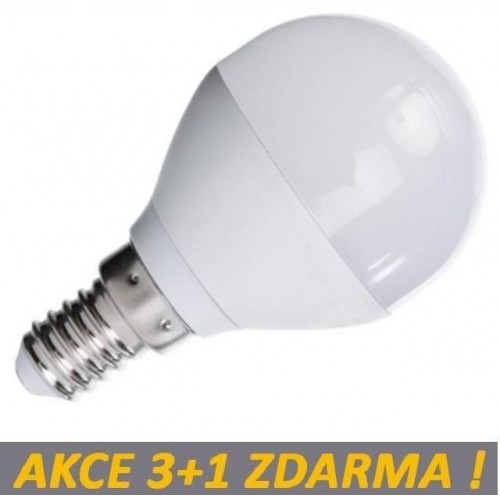 LED žárovka 4W 340lm E14 TEPLÁ, 3+1 ZDARMA