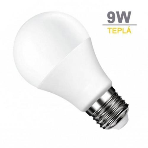 LED žárovka 9W 18xSMD2835 806lm E27 TEPLÁ