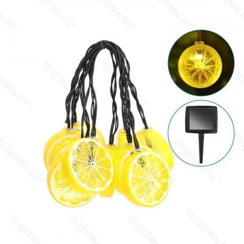 LED SOLÁRNÍ světelný řetěz – citrónky, 3.8m, zahradní dekorace