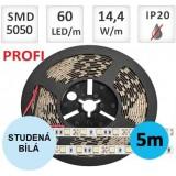 LED pásek PROFI 3Y 5m 14,4W/m 60ks/m 5050 STUDENÁ BÍLÁ