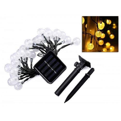 ZD69 LED SOLÁRNÍ světelný řetěz – čirý , 6,5m, zahradní dekorace