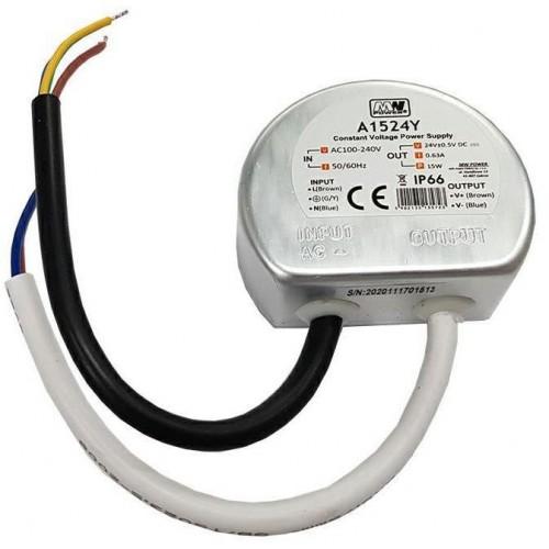 Napájecí zdroj MPL 15W 24V DC 0,63A  A1524Y IP66 do krabice fi60