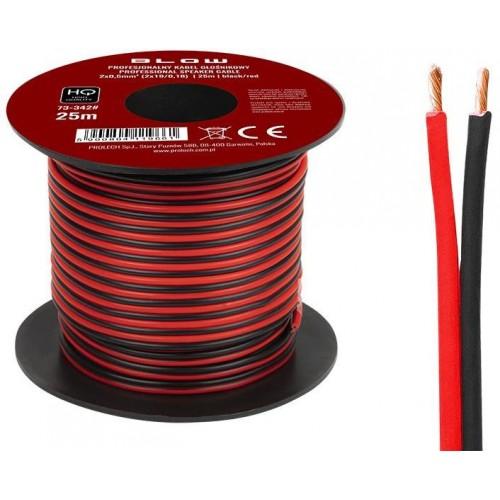 Kabel dvoulinka 25m 0,5mm2 pro napojení LED pásků.