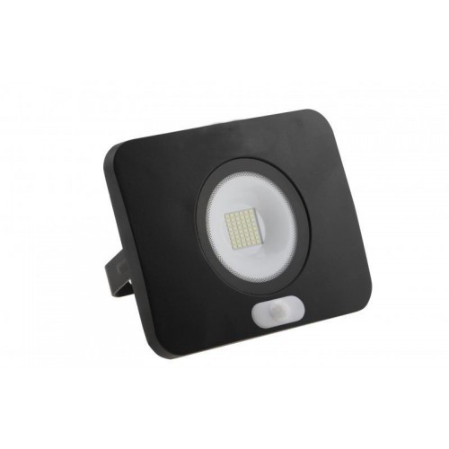 LED reflektor 50W SURFI PIR 3500lm SLIM TEPLÁ IP65