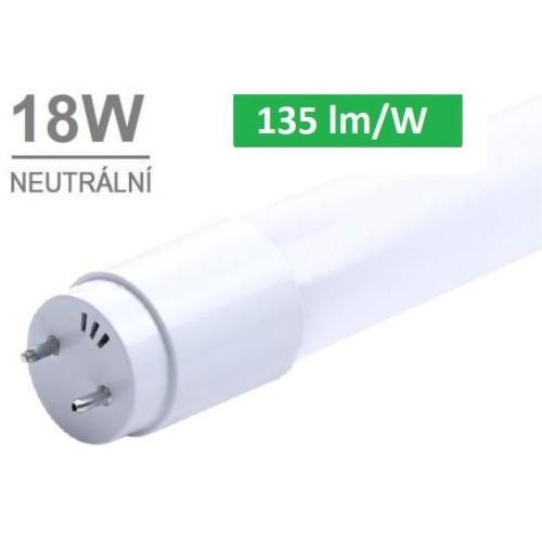 LED trubice T8 120cm 18W 2430lm CCD 4000K NEUTRÁLNÍ