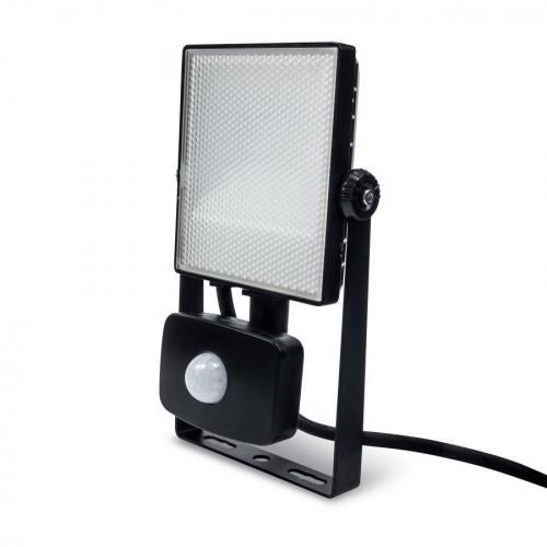 LED reflektor PIR 10W SMD2835 1050lm ULTRA SLIM STUDENÁ