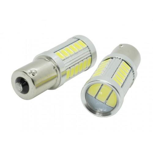 LED auto žárovka 12V BAU15S 33xSMD5630 s čočkou 5W
