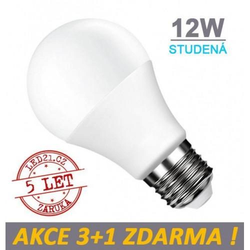 LED žárovka E27 12W 18xSMD2835 1055lm CCD STUDENÁ