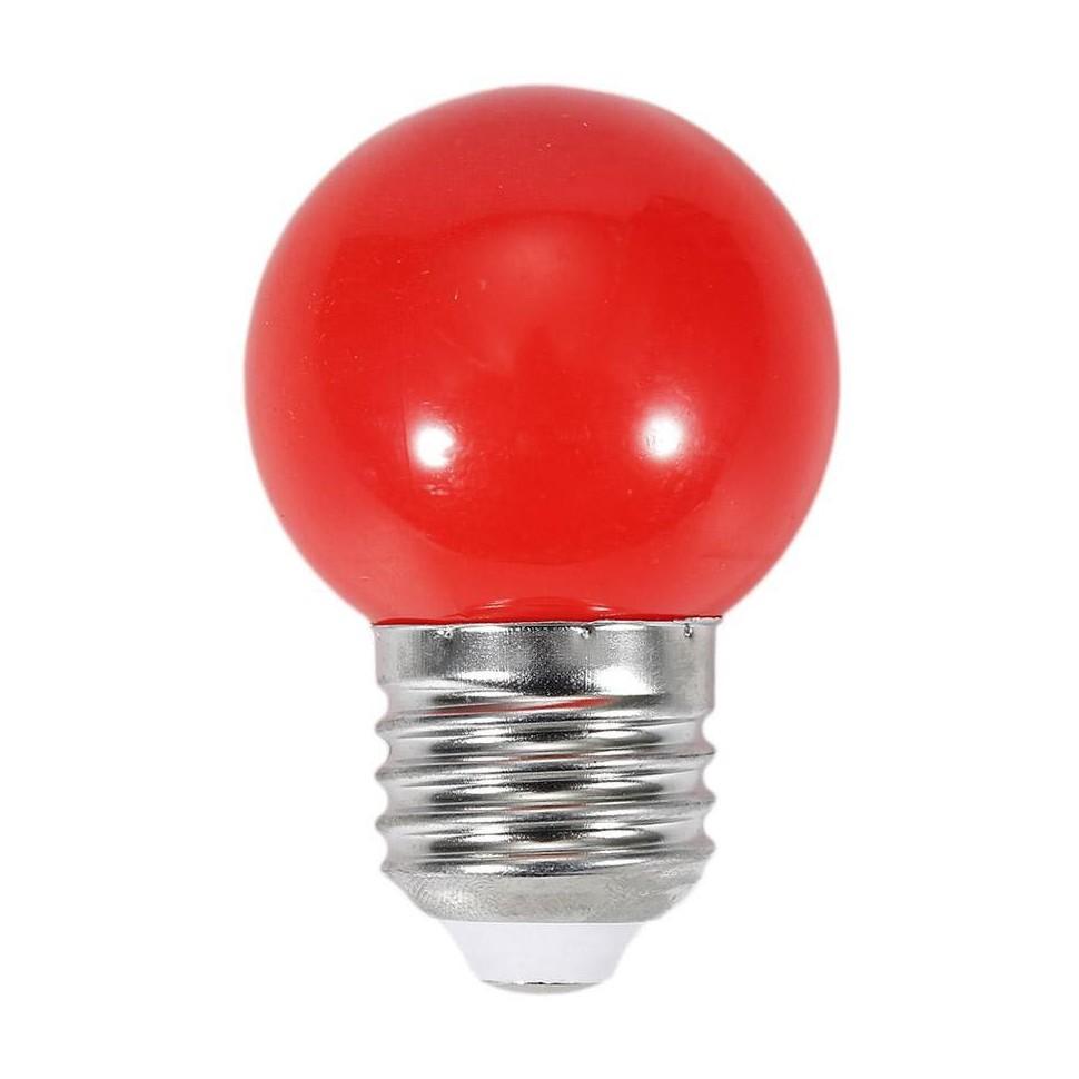 LED žárovka 1W 4xSMD2835 E27 20lm ČERVENÁ