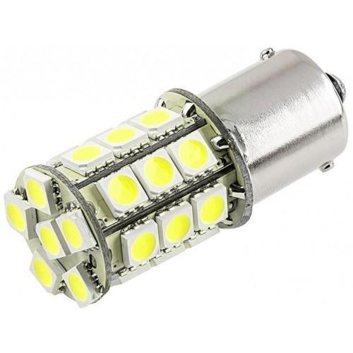 LED auto žárovka 12V BA15D 27xSMD5050 Dvouvláknová
