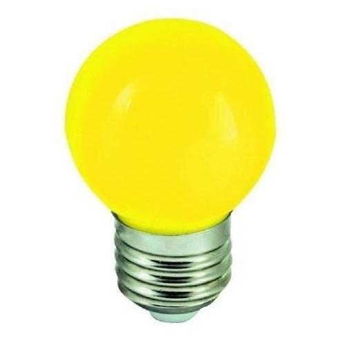 LED žárovka 1W 4xSMD2835 E27 20lm ŽLUTÁ