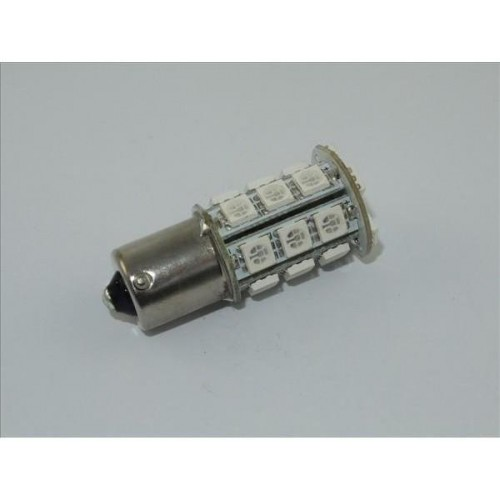 LED auto žárovka BA15S 24SMD 5050 CAN BUS P21W ČERVENÁ