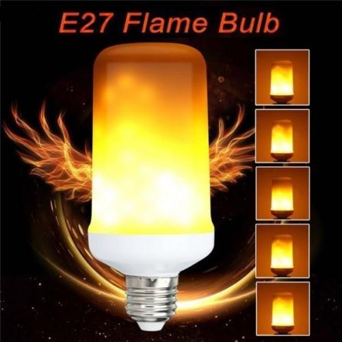 LED žárovka 3-5W SMD2835 450lm E27 ULTRA TEPLÁ, FLAME - imitace plamene