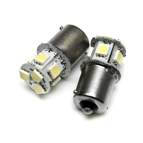 LED auto žárovka 12V LED BA15S 8SMD5050 ORANŽOVÁ 1,6W