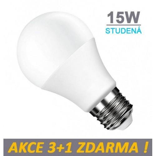 LED žárovka E27 15W SMD2835 1200 lm CCD STUDENÁ