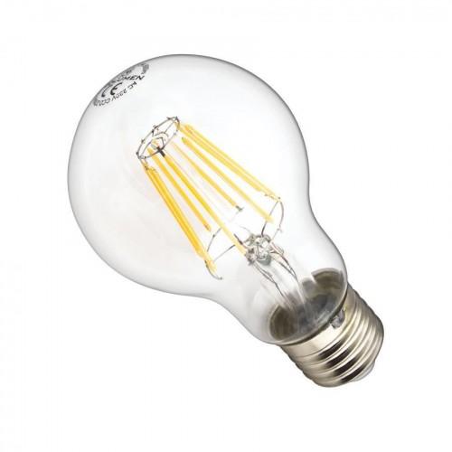 LED žárovka 8W 8xCOS Filament E27 890lm CCD TEPLÁ BÍLÁ STMÍVATELNÁ