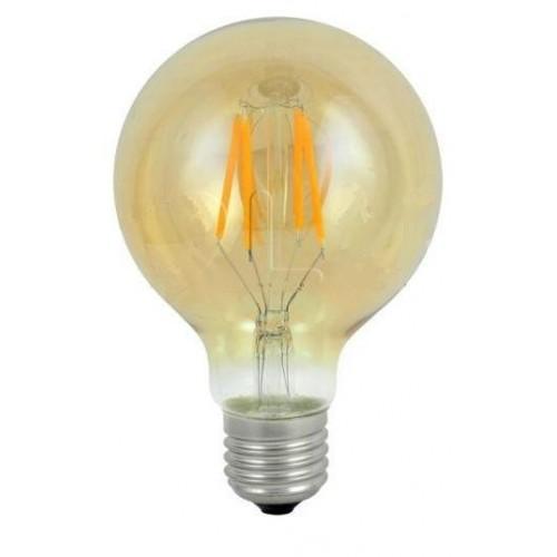 LED žárovka 4W G80 4xCOB Filament Retro Vintage Amber E27 320lm TEPLÁ
