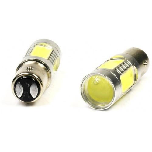 LED auto žárovka 12V BA15S 5 COB 7,5W dvojvláknová